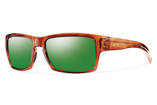 Smith - Outlier Honey Tortoise Sunglasses, Green Sol-X Polarized Mirror Lenses