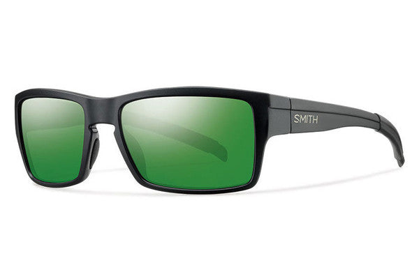 Smith - Outlier Matte Black Sunglasses, Polarized Green Sol-X Mirror Lenses