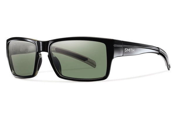 Smith - Outlier Black Sunglasses, Polarized Gray Green Lenses