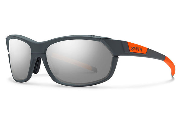 Smith - Pivlock Overdrive Charcoal Neon Orange Sunglasses, Super Platinum Lenses