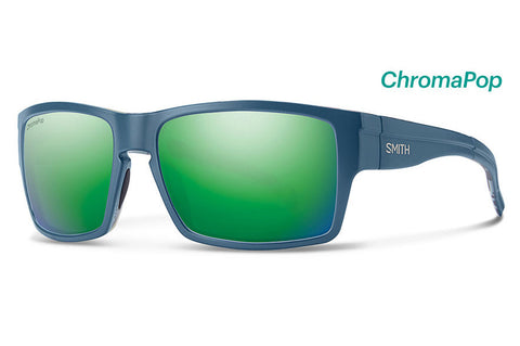 Smith - Outlier XL Matte Corsair Ripped Sunglasses, ChromaPop Sun Green Mirror Lenses