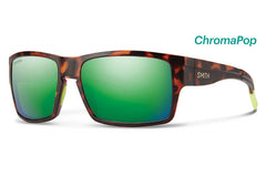 Smith - Outlier XL Matte Tortoise Neon Sunglasses, ChromaPop Sun Green Mirror Lenses
