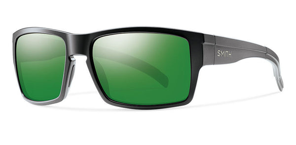 Smith - Outlier XL Matte Black Sunglasses, Green Sol-X Polarized Mirror Lenses