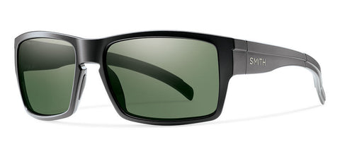 Smith - Outlier XL Matte Black Sunglasses, Gray Green Polarized Lenses