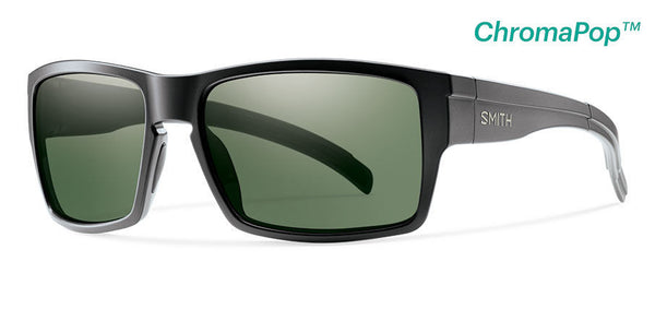 Smith - Outlier XL Matte Black Sunglasses, Gray Green Polarized Chromapop Lenses