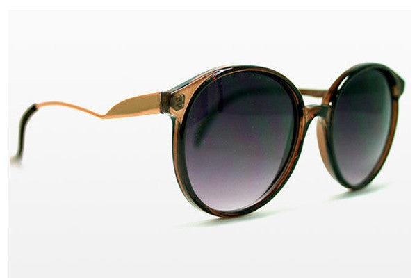 Spitfire - Occams Razor Brown/Gold Sunglasses, Black Lenses