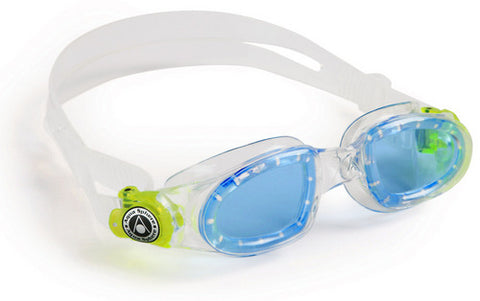 Aqua Sphere - Moby Kid Translucent Yellow Accents Swim Goggles / Blue Lenses