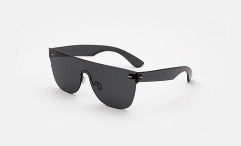 Super - Flat Top 57mm Tuttolente Black Sunglasses / Black Lenses