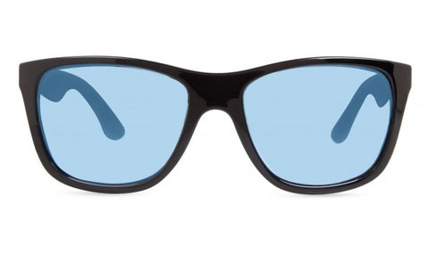Revo - Skylar Blue Woodgrain Sunglasses / Blue Water Serilium Polarized Lenses