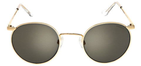 Randolph - P3 49mm 23K Gold Skull Temple Sunglasses / SkyTec American Gray Lenses