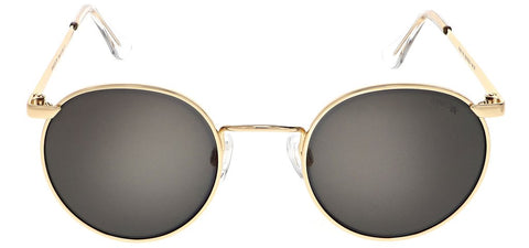 Randolph - P3 49mm 23K Gold Skull Temple Sunglasses / SkyTec Polarized American Gray Lenses