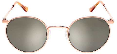 Randolph - P3 49mm 22K Rose Gold Skull Temple Sunglasses / SkyTec American Gray Lenses