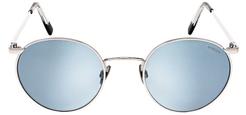 Randolph - P3 51mm 23K White Gold Skull Temple Sunglasses / SkyTec Blue Hydro Lenses
