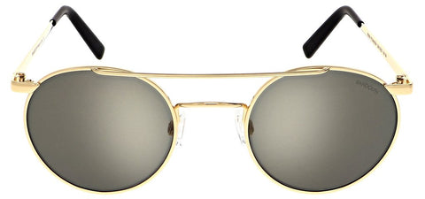 Randolph - P3 Shadow 49mm 23K Gold Skull Temple Sunglasses / SkyTec American Gray Lenses