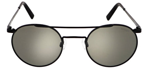 Randolph - P3 Shadow 49mm Matte Black Skull Temple Sunglasses / SkyTec American Gray Lenses