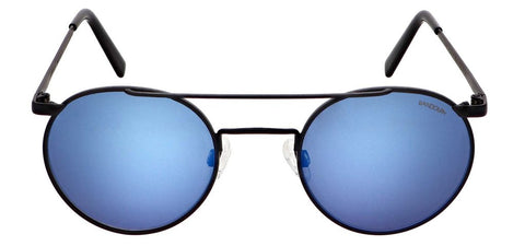Randolph - P3 Shadow 49mm Matte Black Skull Temple Sunglasses / SkyForce Atlantic Blue Lenses