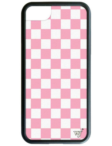 Wildflower - Pink Checkers iPhone XS/X Case
