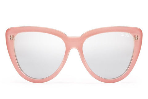 Quay Stray Cat Peach / Silver Sunglasses