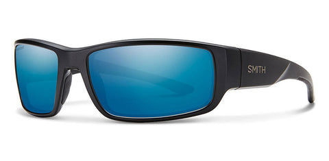 Smith - Survey Matte Black Sunglasses / Carbonic Polarized Blue Mirror Lenses
