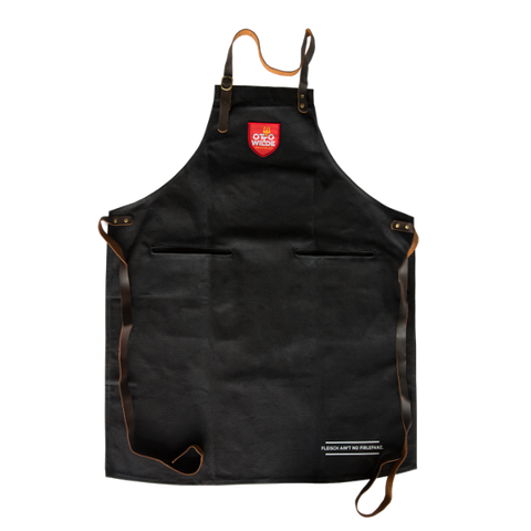 Otto Wilde - Thick Cotton True Leather Straps Grill Apron