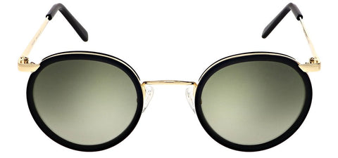 Randolph - P3 Fusion 49m 23K Gold Skull Temple Sunglasses / SkyForce Air Evergreen Lenses