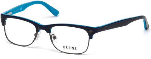 Guess - GU9174 Shiny Blue Eyeglasses / Demo Lenses
