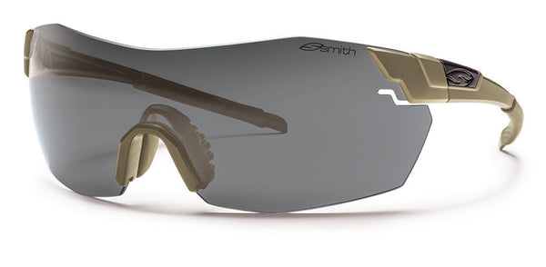 Smith - Pivlock V2 Max Tactical Tan 499 Sunglasses, Field Kit - Gray Mil-Spec Installed Lenses