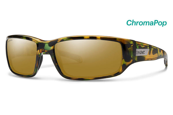 Smith Prospect Flecked Green Tortoise Sunglasses, ChromaPop Polarized Bronze Mirror Lenses