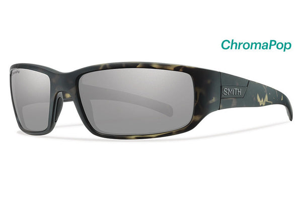 Smith - Prospect Matte Camo Sunglasses, ChromaPop Polarized Platinum Lenses