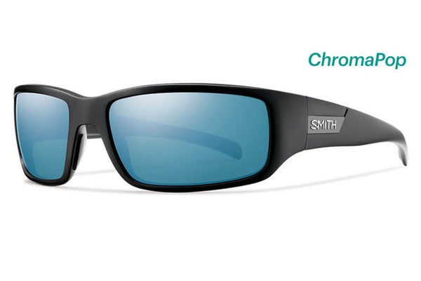 Smith - Prospect Matte Black Sunglasses, ChromaPop Polarized Blue Mirror Lenses