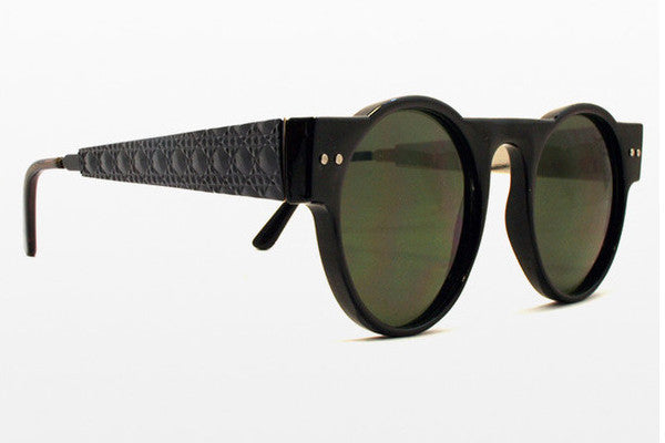 Spitfire - PR55 Black W/ Black Metal Detail Sunglasses, Black Lenses
