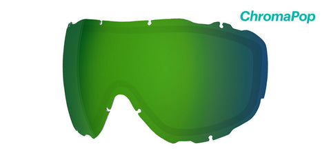 Smith - Prophecy Turbo Chromapop Sun Green Mirror Snow Goggle Replacement Lens