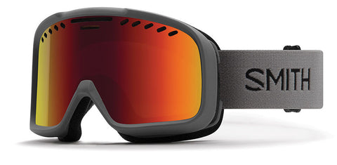 Smith - Project Asian Fit Charcoal Snow Goggles / Red SolX Mirror Lenses