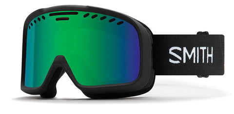 Smith - Project Asian Fit Black Snow Goggles / Green Mirror Lenses