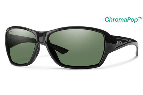 Smith - Purist Black Sunglasses, Gray Green ChromaPop Polarized Lenses