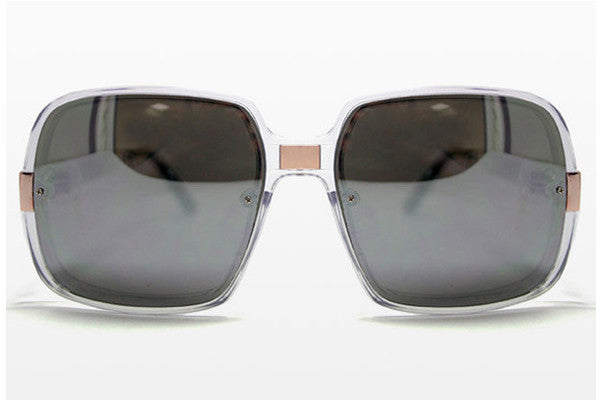Spitfire - Puritan Clear/Gold Sunglasses, Silver Mirror Lenses