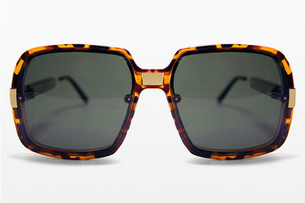Spitfire - Puritan Tortoise/Gold Sunglasses, Black Lenses