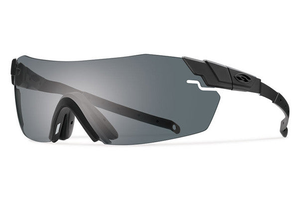 Smith - Pivlock Echo Max Black Sunglasses, Deluxe Kit - Gray Mil-Spec Installed Lenses