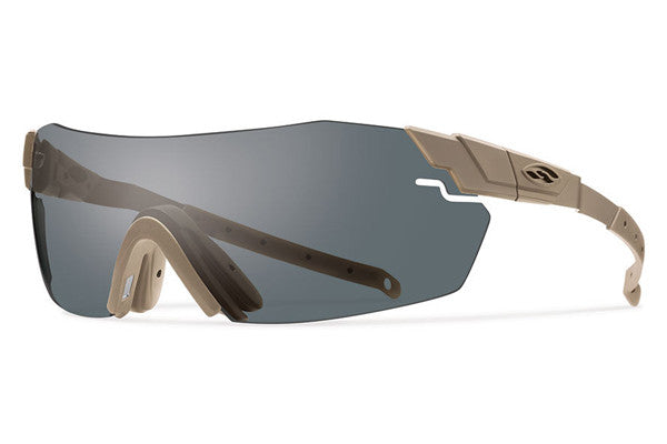 Smith - Pivlock Echo Max Tan 499 Tactical Sunglasses, Deluxe Kit - Gray Mil-Spec Installed Lenses
