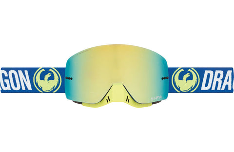 Dragon - NFXs Flash Blue MX Goggles / Smoke Gold + Clear Lenses