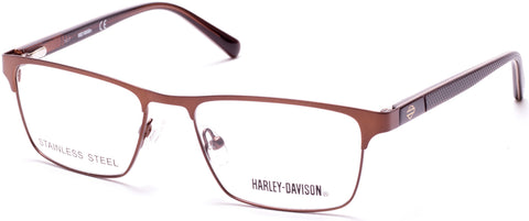 Harley-Davidson - HD0132T Matte Dark Brown Eyeglasses / Demo Lenses