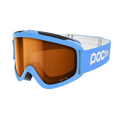 POC - POCito Iris Fluorescent Blue Snow Goggles / Gold Mirror Lenses