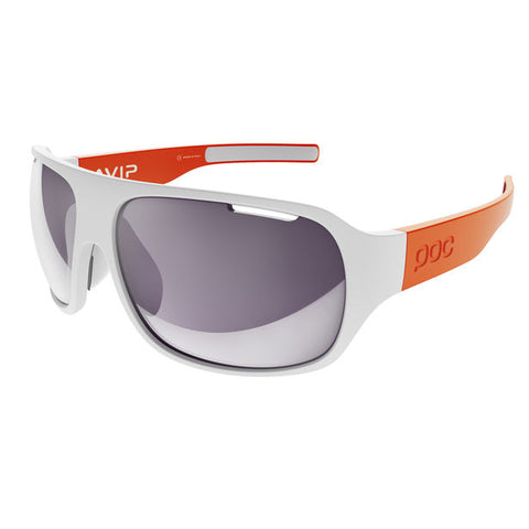 POC - DO Flow AVIP Clarity Hydrogen White + Zink Orange Sunglasses / Violet Silver Mirror Lenses