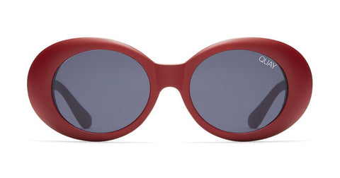 Quay - Frivolous Red Sunglasses / Smoke Lenses