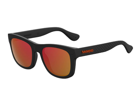 Havaianas - Paraty S Black Sunglasses / Red Mirror Lenses