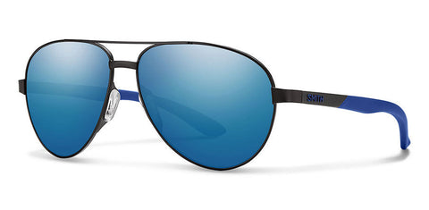 Smith - Salute  Matte Black Sunglasses / Carbonic Blue Mirror Lenses
