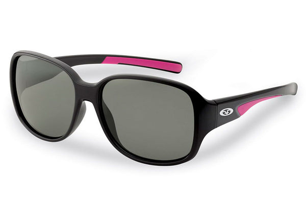 Flying Fisherman - Pearl 7714 Black-Pink Sunglasses, Smoke Lenses