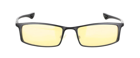 Gunnar - Phenom Onyx Reader Eyeglasses / Amber Blue Light +3.00 Lenses