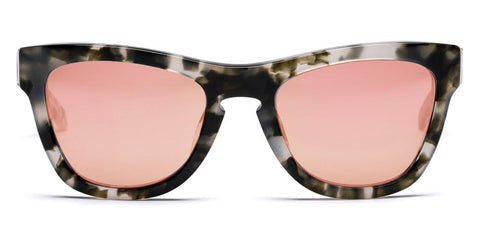Westward Leaning - Pioneer 46 Polished Pepper Tortoise Acetate Sunglasses / Rose Gold Mirror Lenses