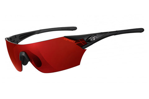 Tifosi - Podium Matte Black Sunglasses, Interchangeable AC Red / Clarion Red / Clear Lenses